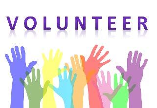 Volunteer Logo with Colorful Hands